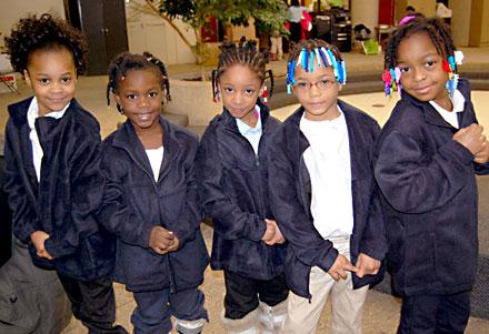 Little girls in Cleveland Schools